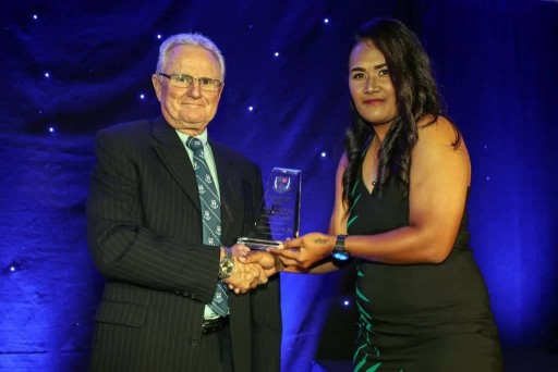 Lagi Telea is Auckland Women's Club Cricketer of the Year and Year 7 Prems Winners at ACA Junior Prize...