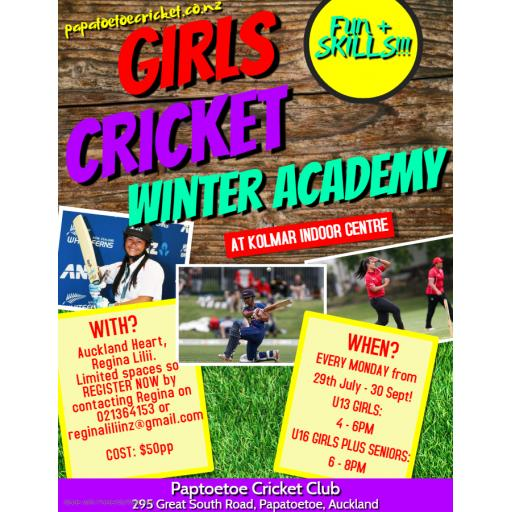 AGM rescheduled to 1st August 5.30pm, Annual Report available & Girls Winter Academy starts Monday!