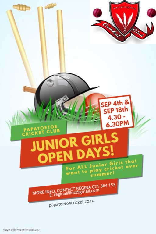 Club Golf Day, Junior Girls open days & Register NOW to play cricket this summer!